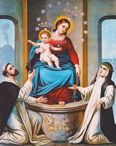 Obraz Matki Bożej z Pompejów